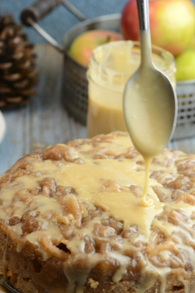 Apple Bread With Salted Caramel Icing