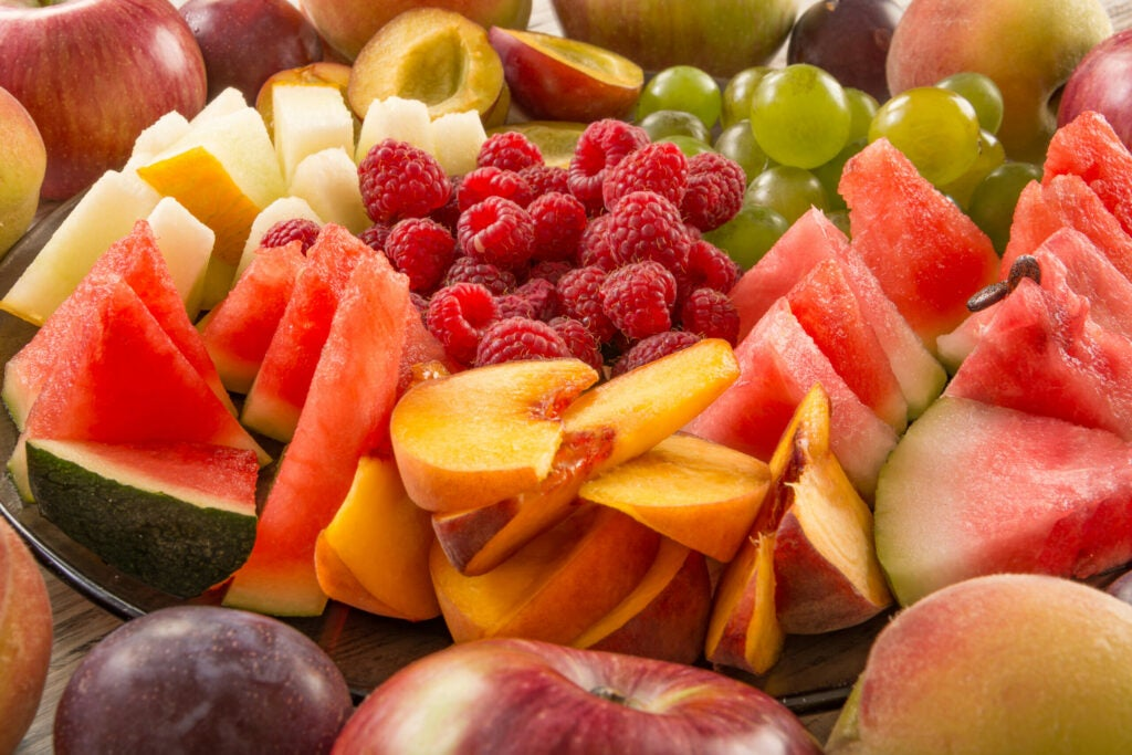 A mixture of their fruit, close-up.