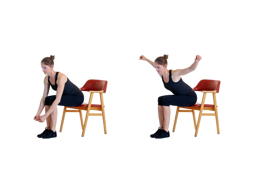 Bent Over with Arm Lift
