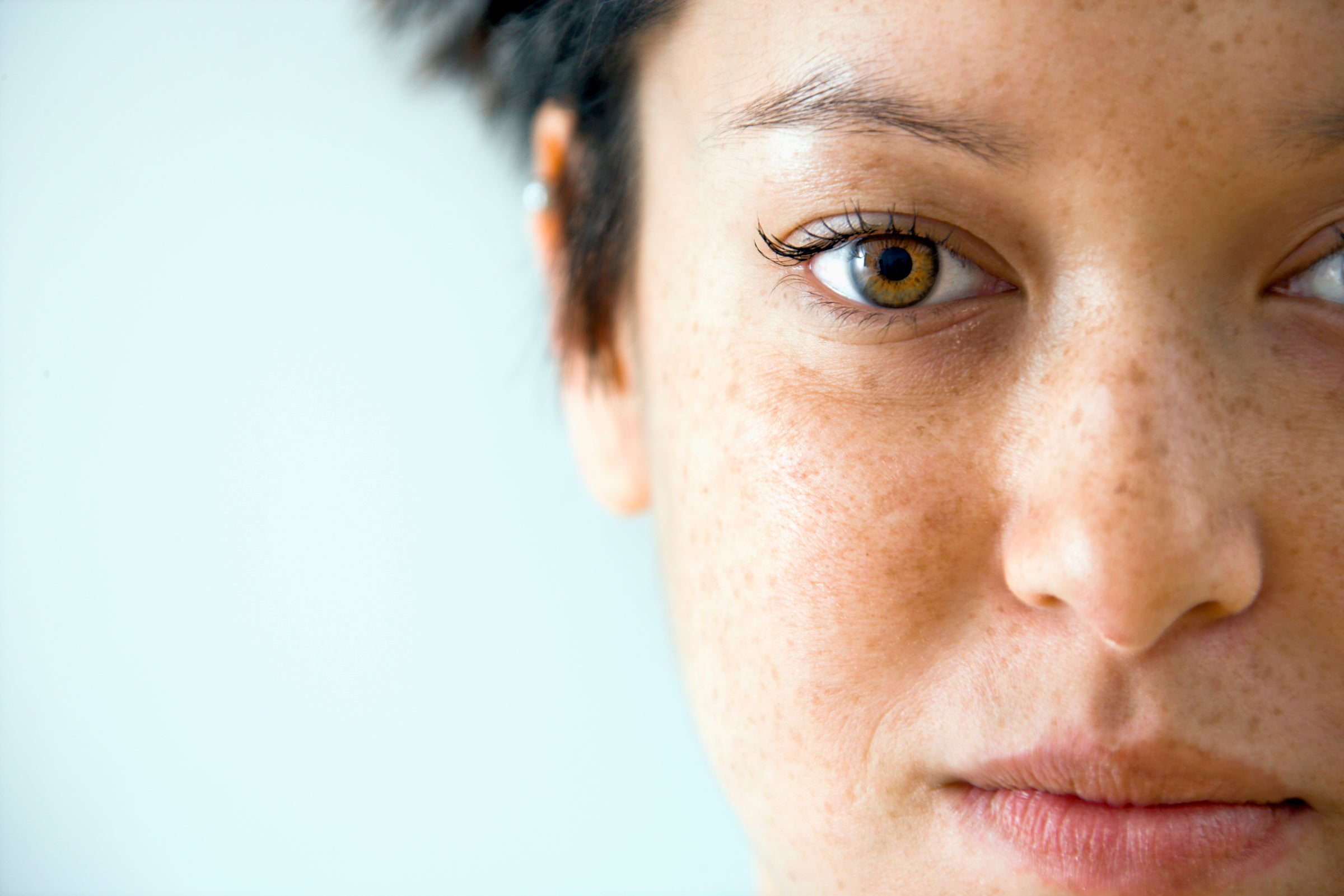 Close up portrait of young Caucasian woman.