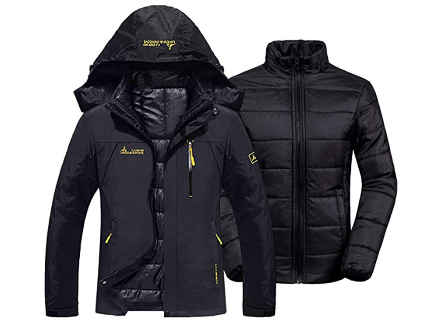 GEMYSE Womens Waterproof 3-in-1 Ski Snow Jacket Puffer Liner Insulated Winter Coat