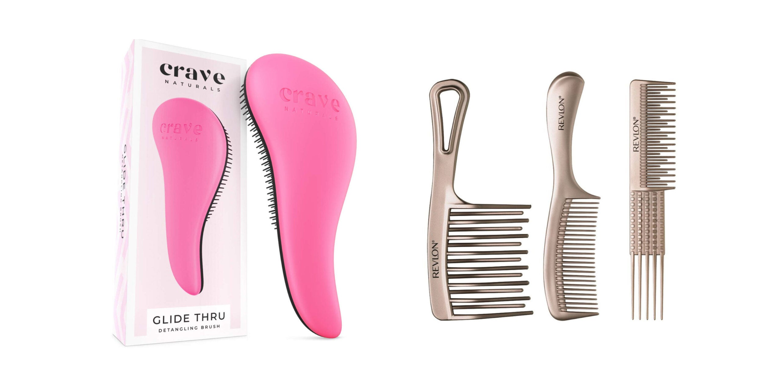 Three Curly Hair Combs for Frizz Relief