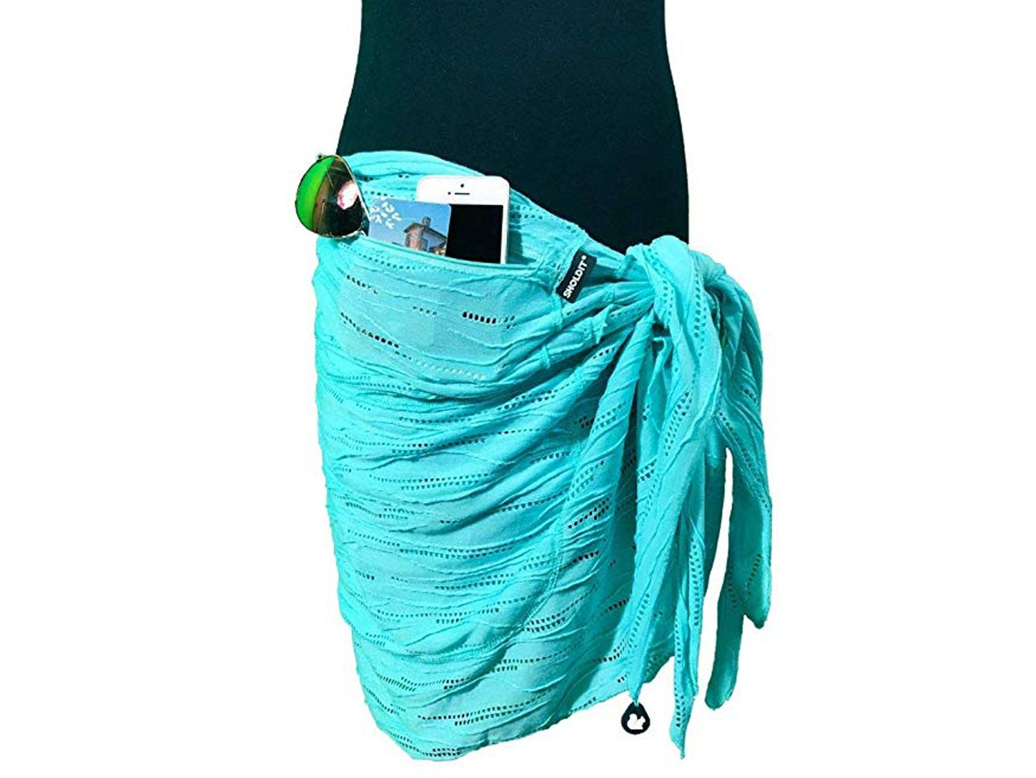 Sholdit Convertible Sarong with Pocket Swimsuit Cover Up
