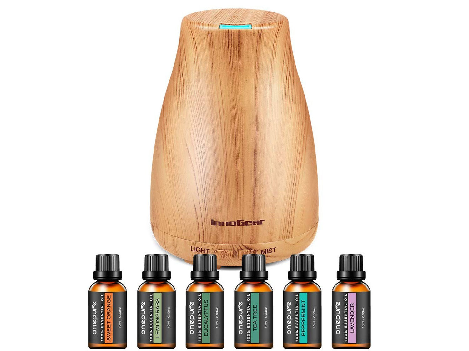 InnoGear Upgraded 150ml Aromatherapy Diffuser with 6 Bottles
