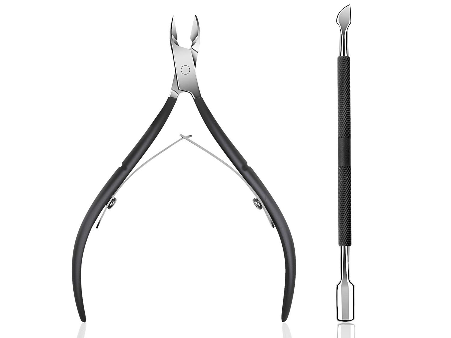 Cuticle Trimmer with Cuticle Pusher
