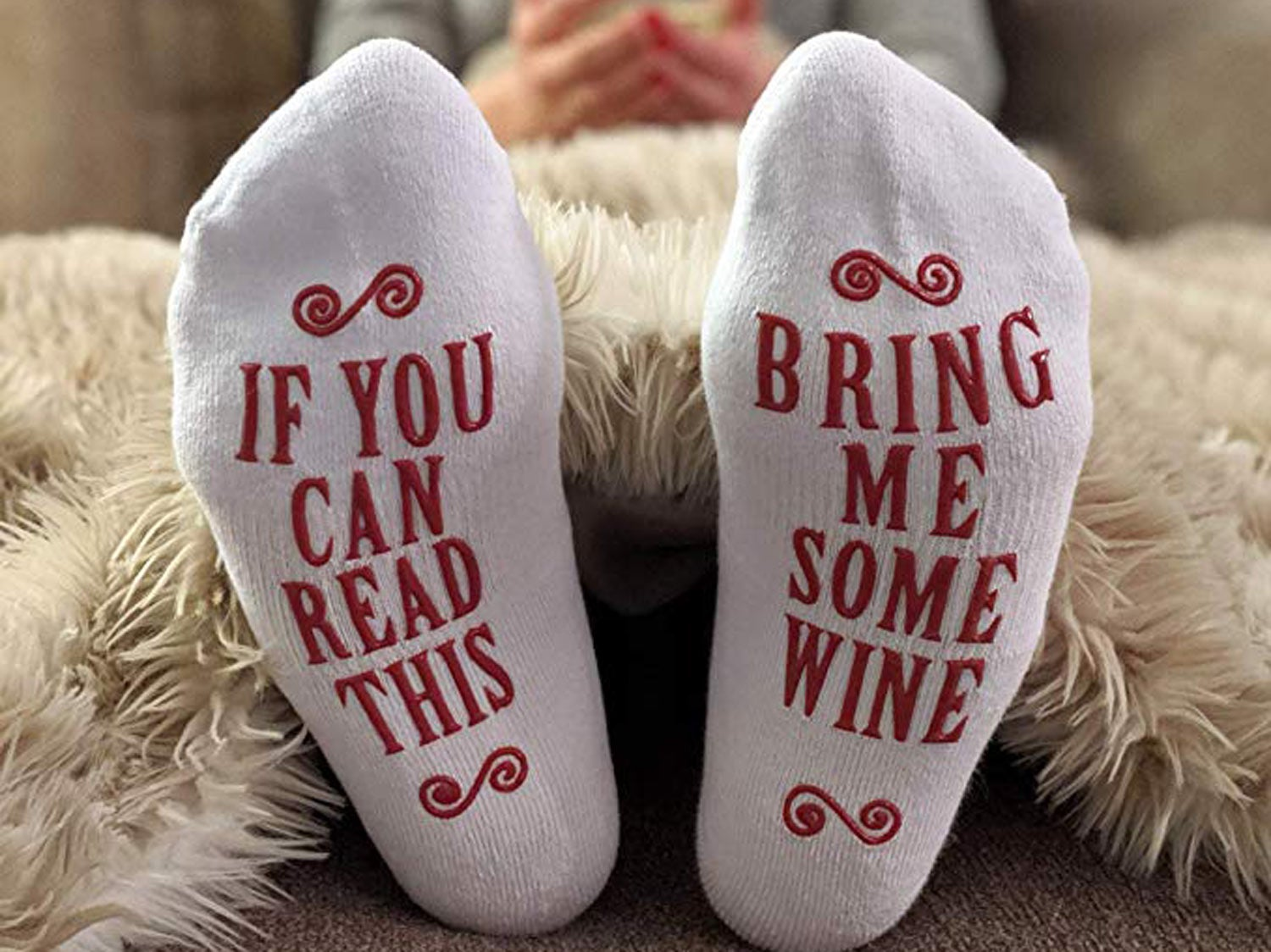 """Haute Soiree Women's """"If You Can Read This Bring Me Some Coffee"""" Socks"""
