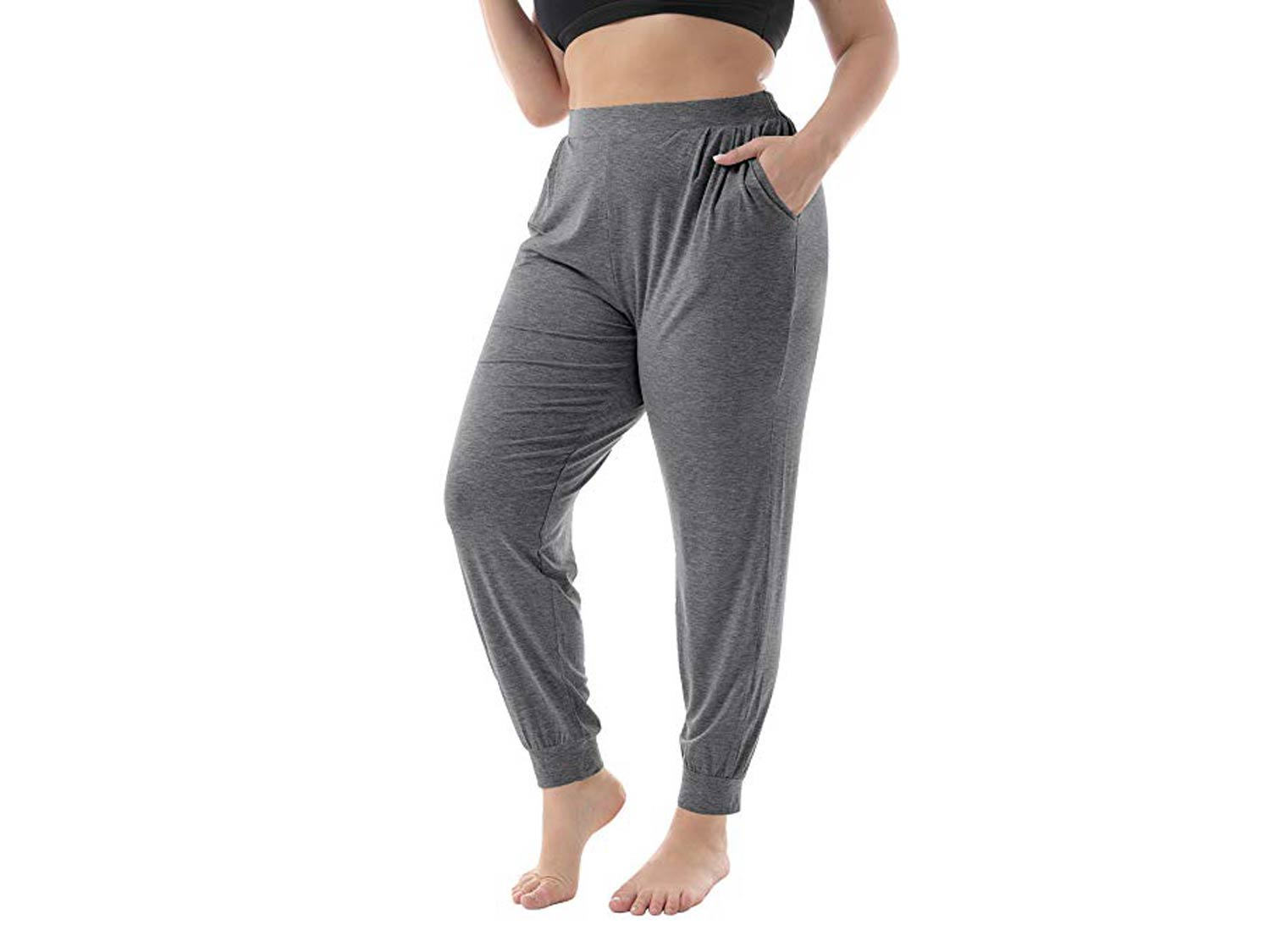 ZERDOCEAN Women's Plus Size Casual Stretchy Relaxed Long Lounge Pants
