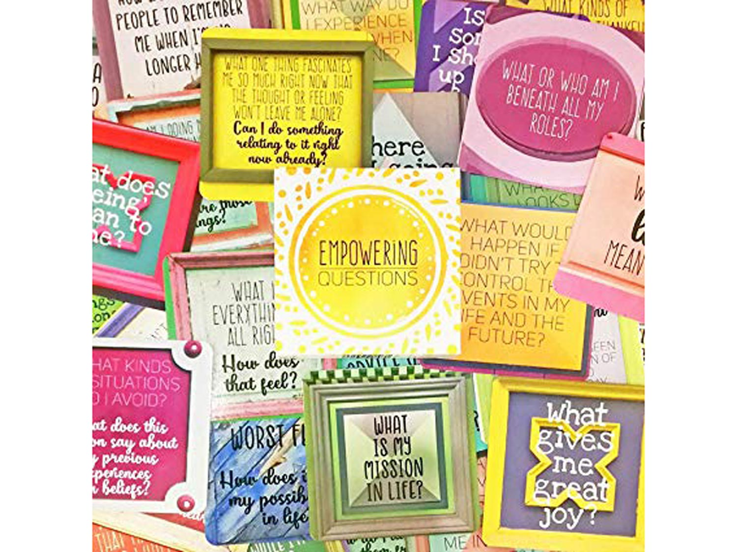 Sunny Present Empowering Questions Cards