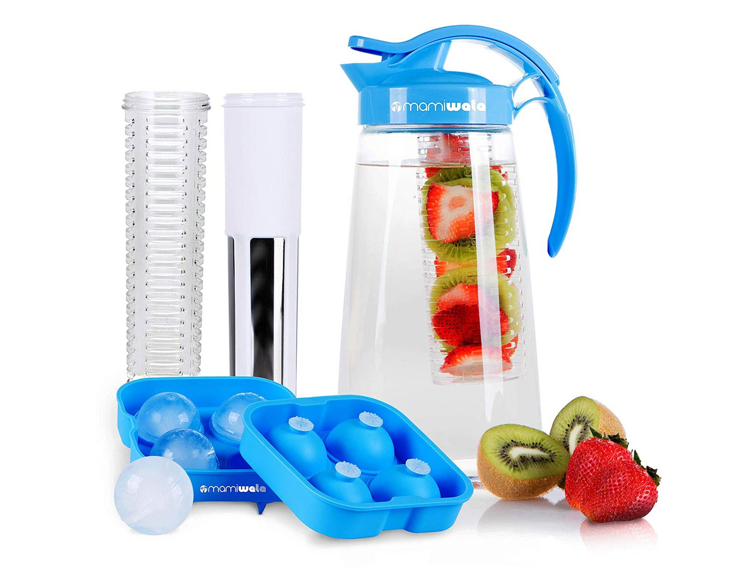 Fruit & Tea Infusion Water Pitcher - Free Ice Ball Maker