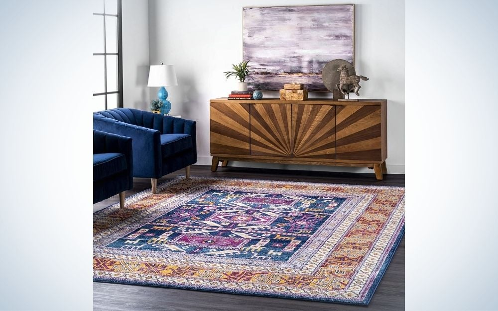The nuLOOM Marisela Tribal Area Rug is one of the best area rugs for design.