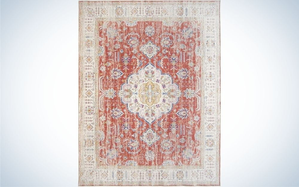 The ReaLife Machine Washable Rug is the best eco-friendly area rug.