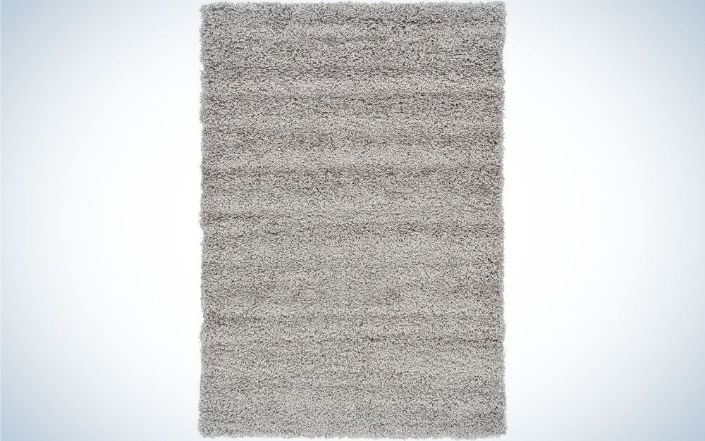 The Unique Loom Solo Solid Shag Collection Modern Plush Area Rug is the best for comfort.