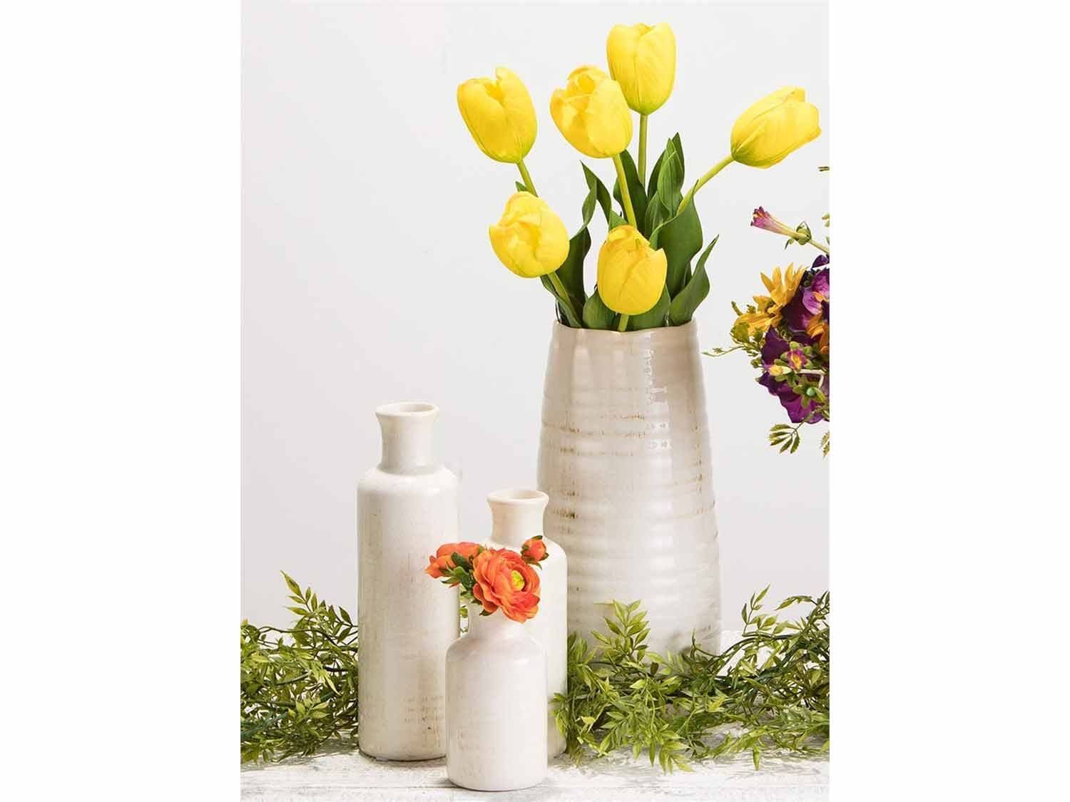 Sullivans Small White Vase Set
