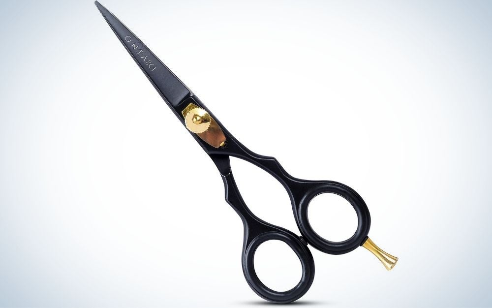 The ONTAKI Professional Japanese Steel Salon Shears are the best for cutting short hair.