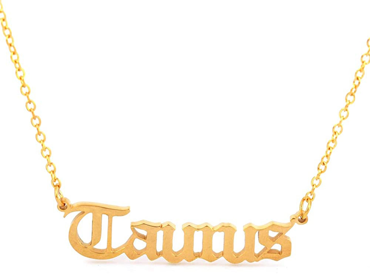 HUTINICE Old English Necklace for Women, 18K Gold