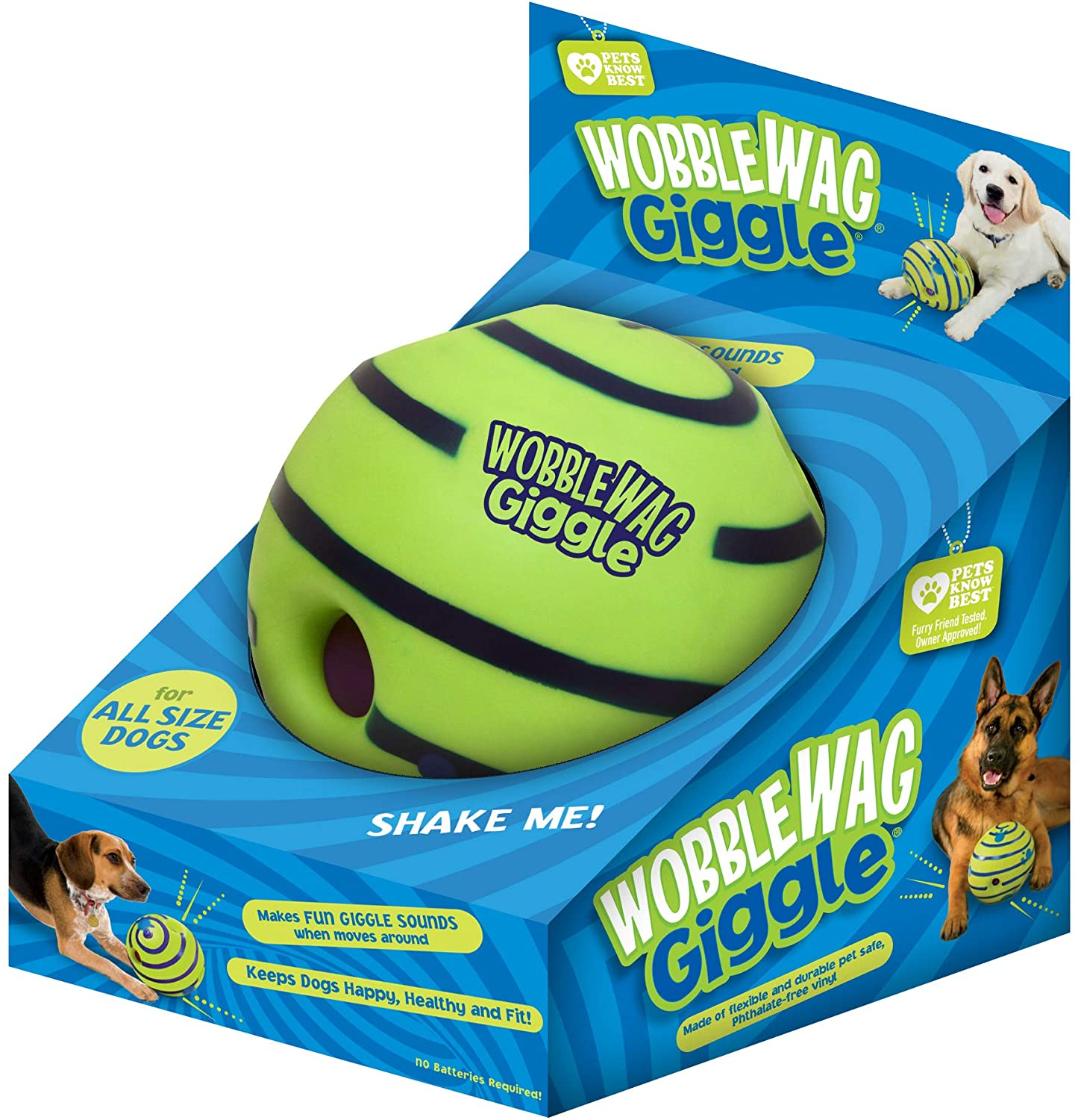 Wobble Wag Giggle Ball, Interactive Dog Toy