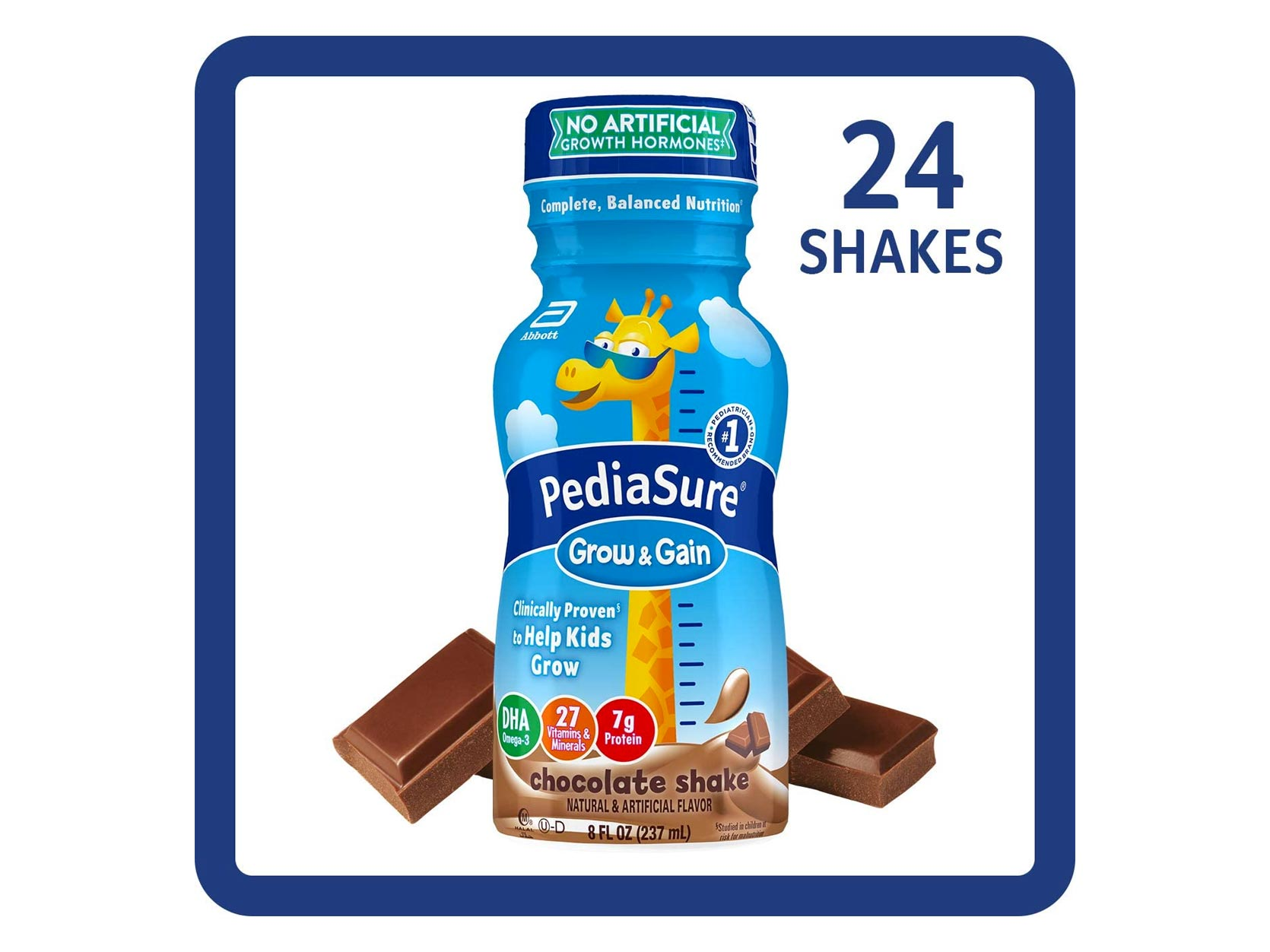 PediaSure Grow & Gain Kids' Nutritional Shake, with Protein, DHA, and Vitamins & Minerals