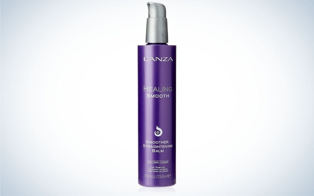 The L'ANZA Healing Smooth Smoother Straightening Balm is the best for curly hair.