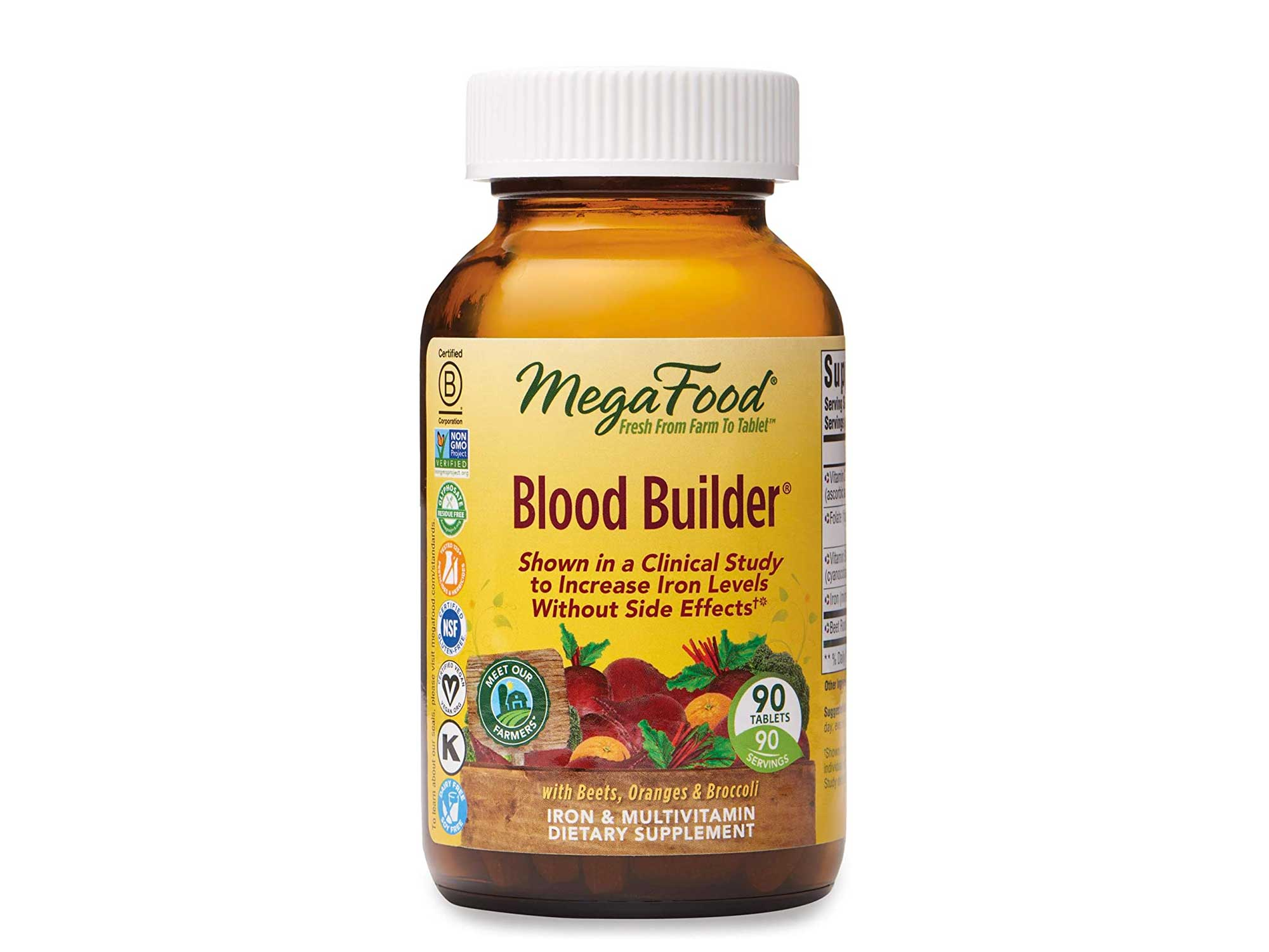 MegaFood, Blood Builder, Daily Iron Supplement and Multivitamin