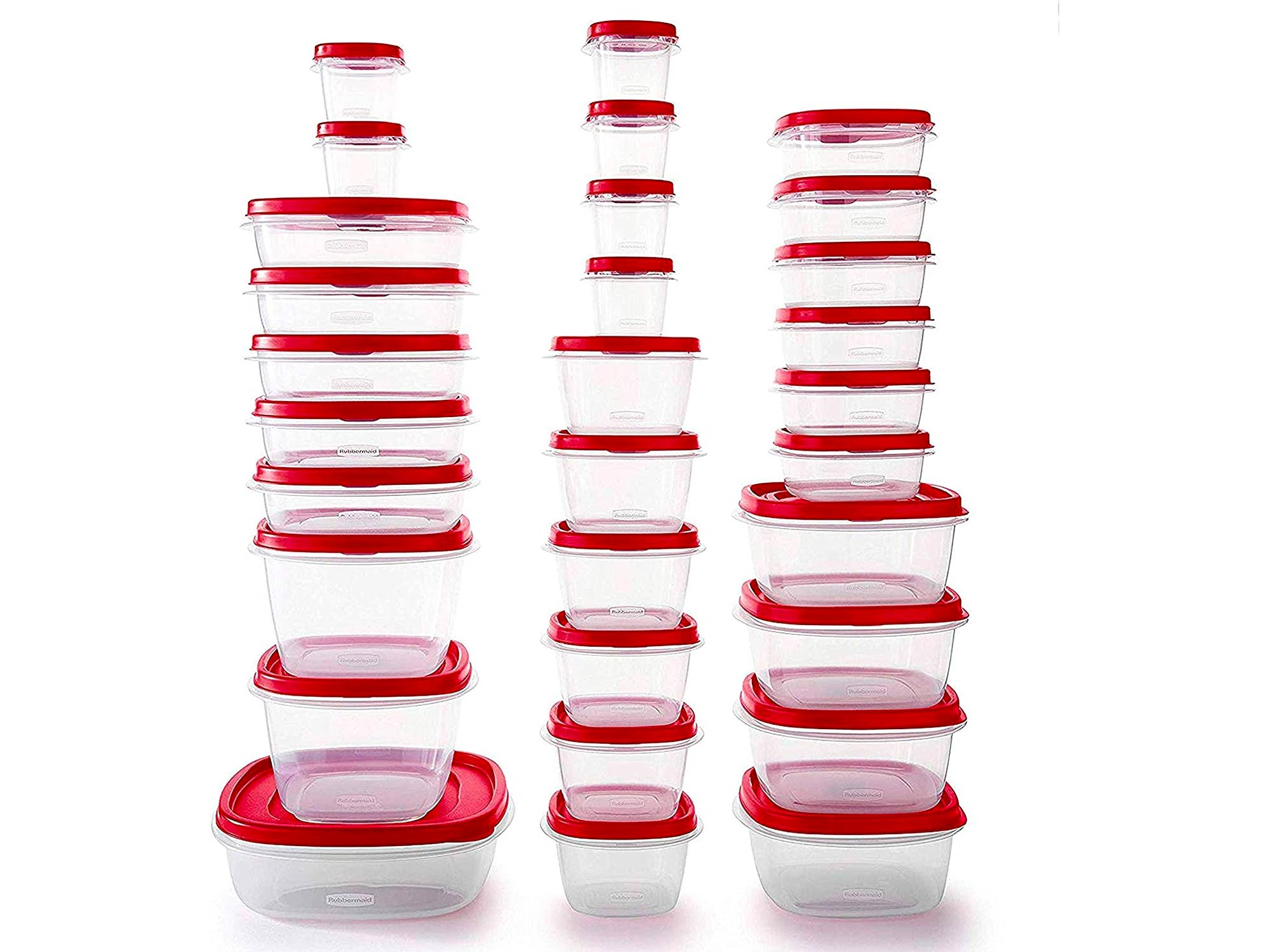 Rubbermaid Easy Find Vented Lids Food Storage Containers, Set of 30