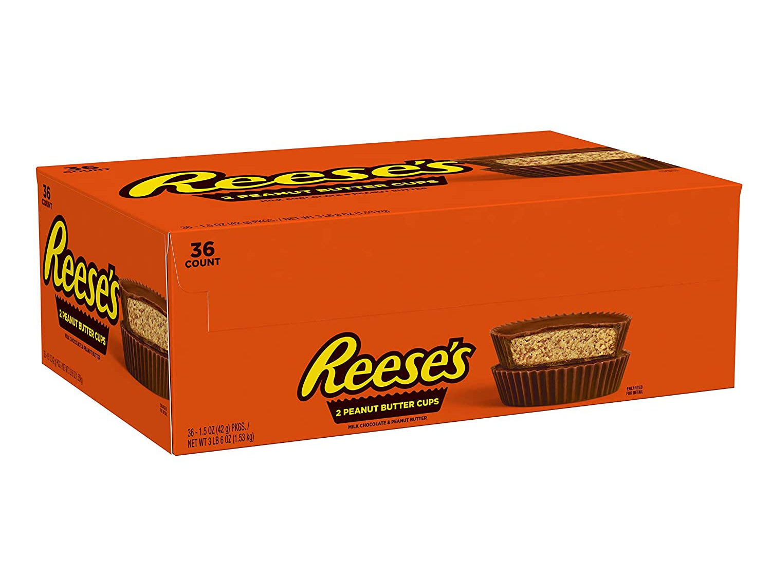 Reese's Peanut Butter Cups Chocolate Bulk Candy, 1.5 Oz Packages