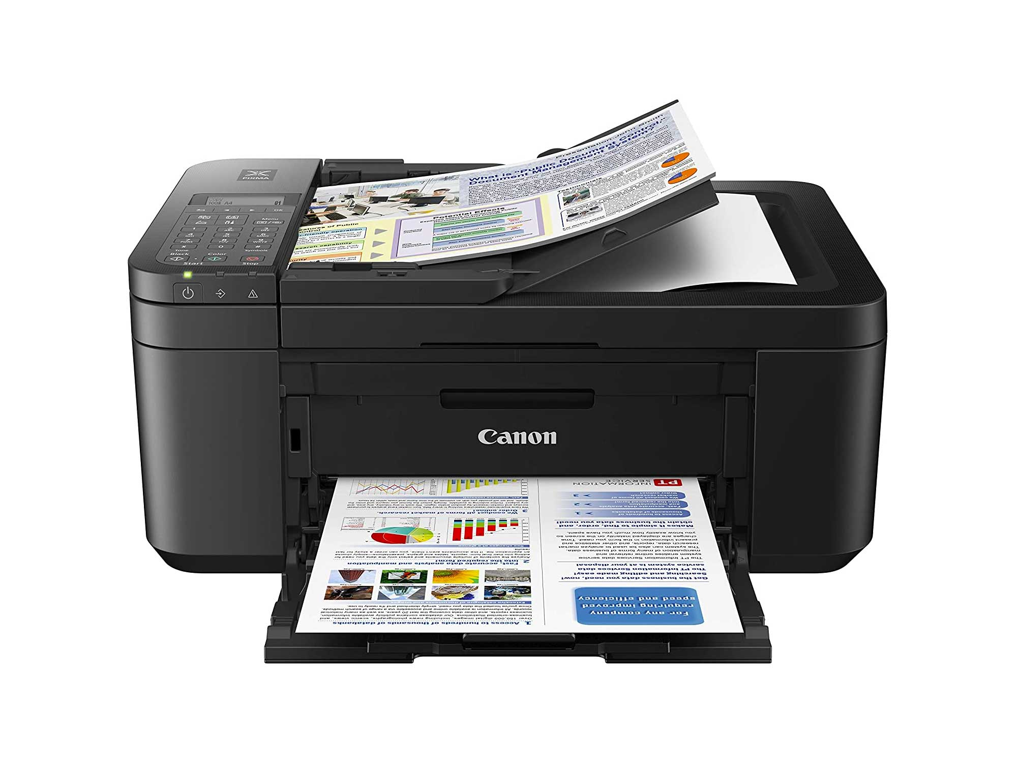 Canon PIXMA Wireless All in One Photo Printer with Mobile Printing, Black