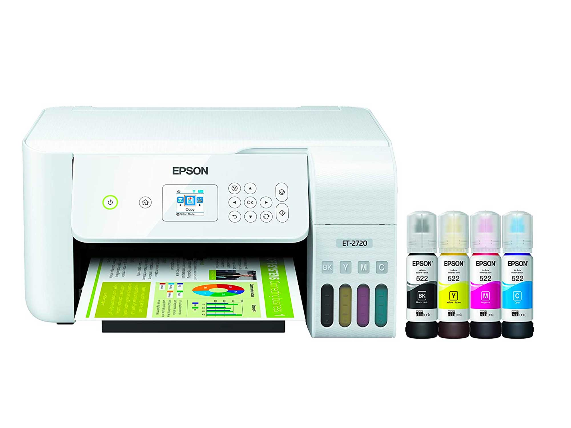 Epson EcoTank Wireless Color All-in-One Supertank Printer with Scanner and Copier