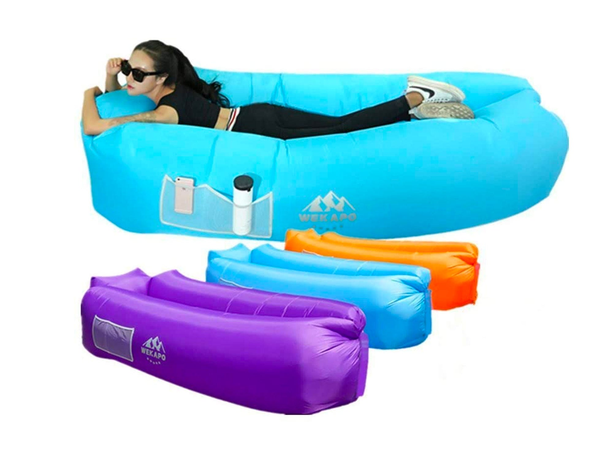 Wekapo Inflatable Lounger Air Sofa Hammock-Portable,Water Proof& Anti-Air Leaking Design-Ideal Couch for Backyard