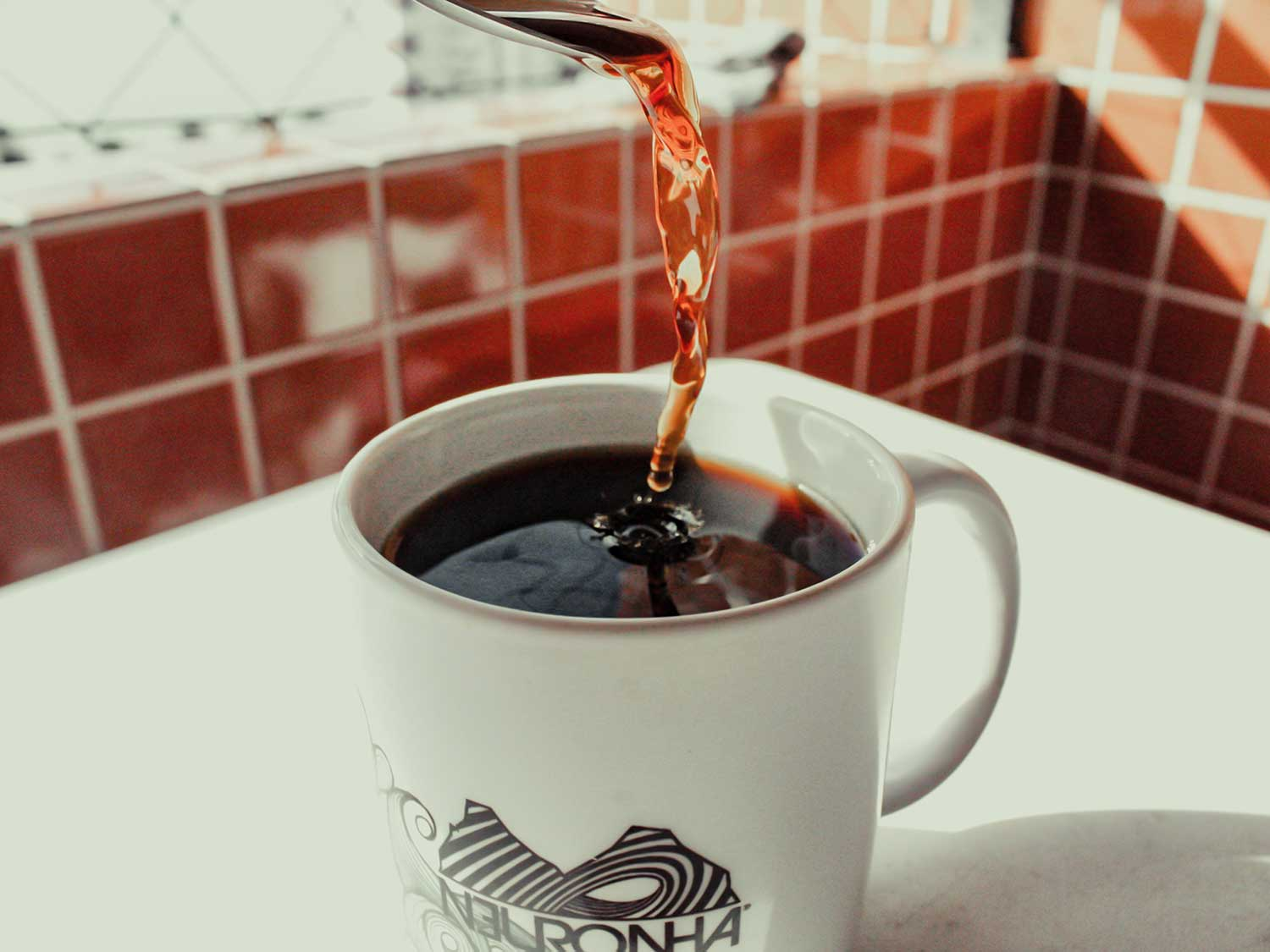 Pouring out coffee