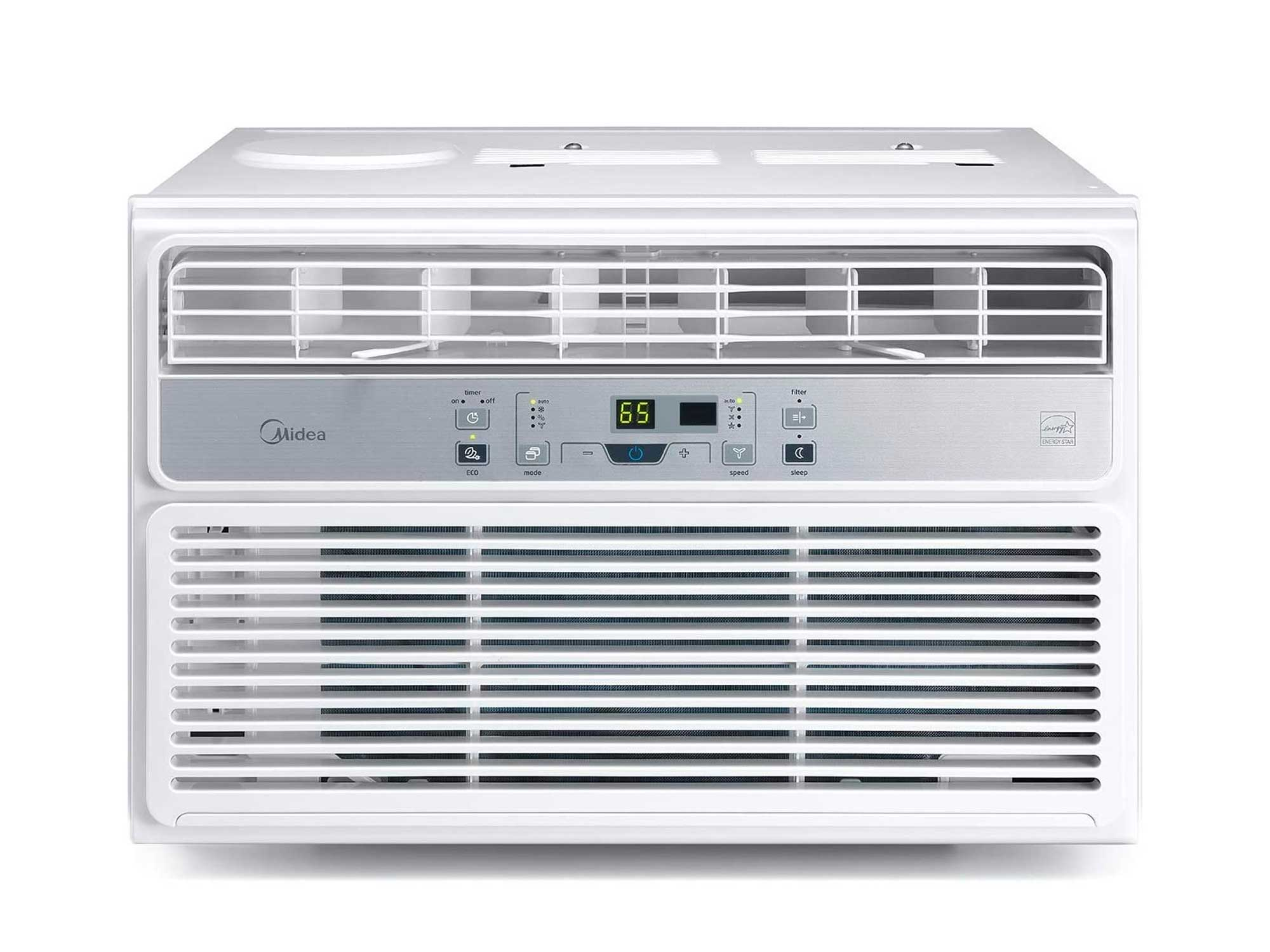 MIDEA MAW12R1BWT Window Air Conditioner 12000 BTU Easycool AC (Cooling, Dehumidifier and Fan Functions) for Rooms up to 550 Sq, ft. with Remote Control, 12,000,