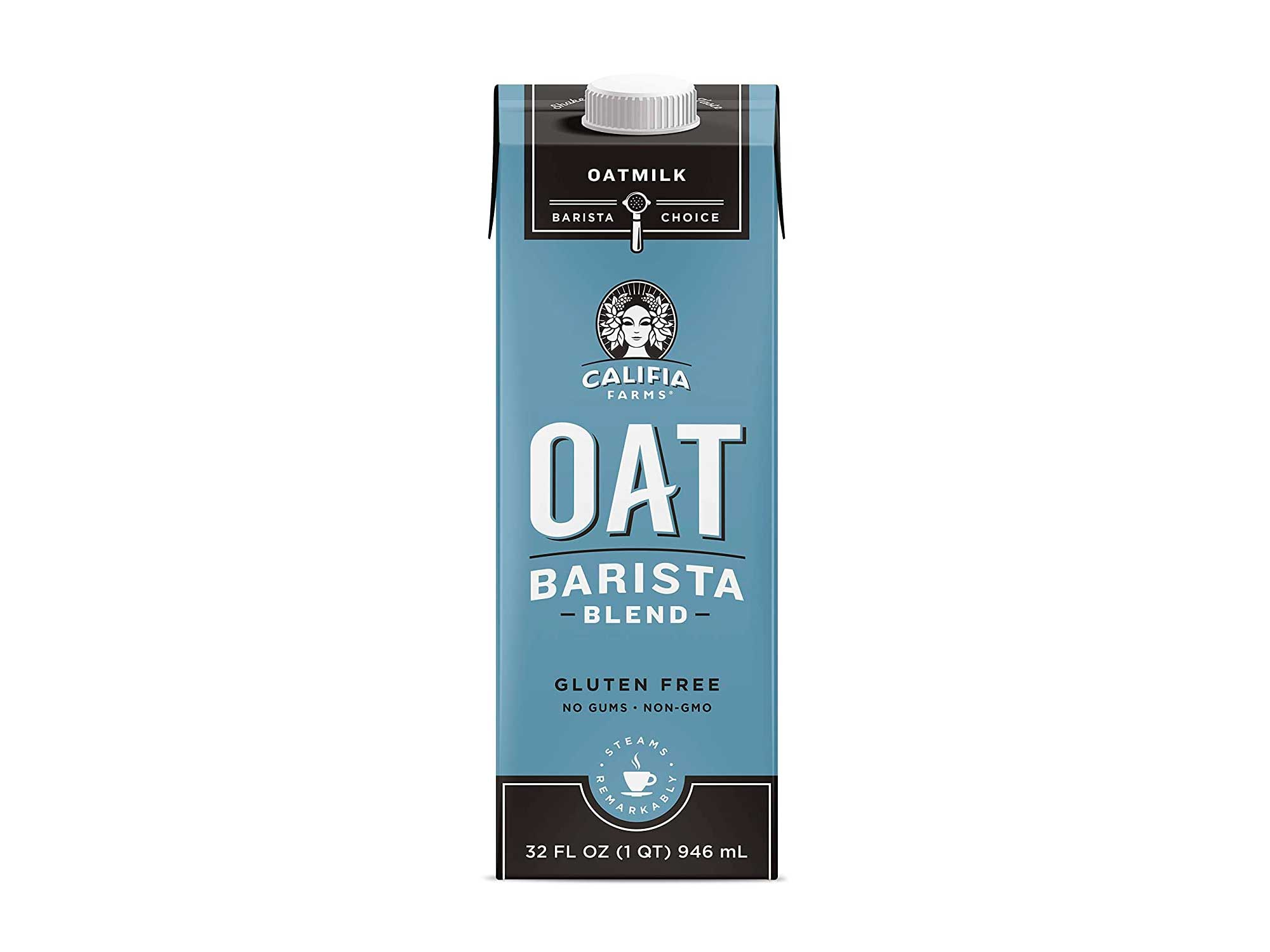Califia Farms - Oat Milk, Unsweetened Barista Blend, 32 Oz (Pack of 6)