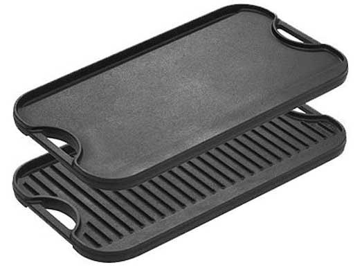 Lodge Pro-Grid Cast Iron Reversible Grill/Griddle Pan with Easy-Grip Handles