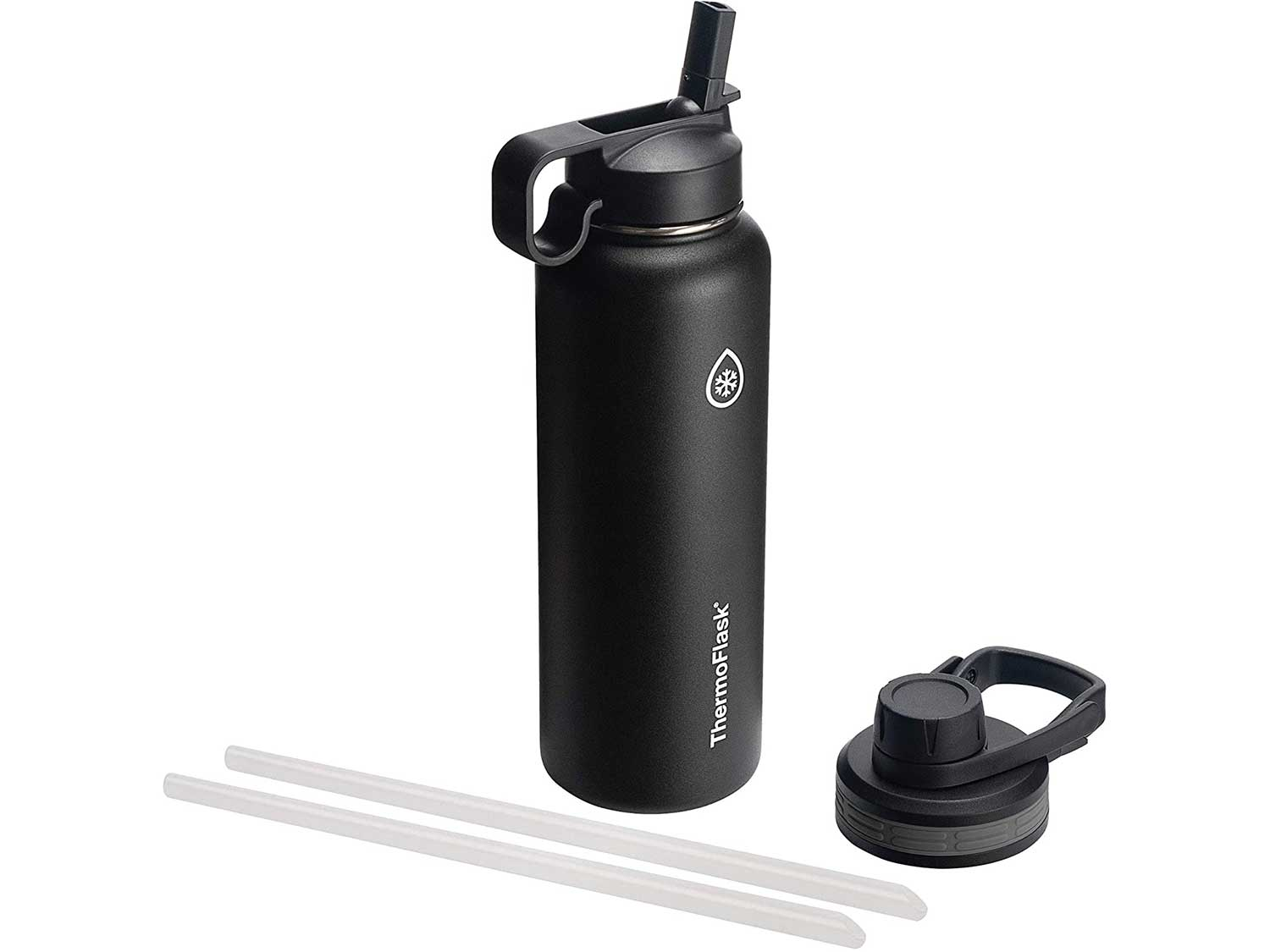 Thermoflask 50060 Double Stainless Steel Insulated Water Bottle, 40 oz, Black