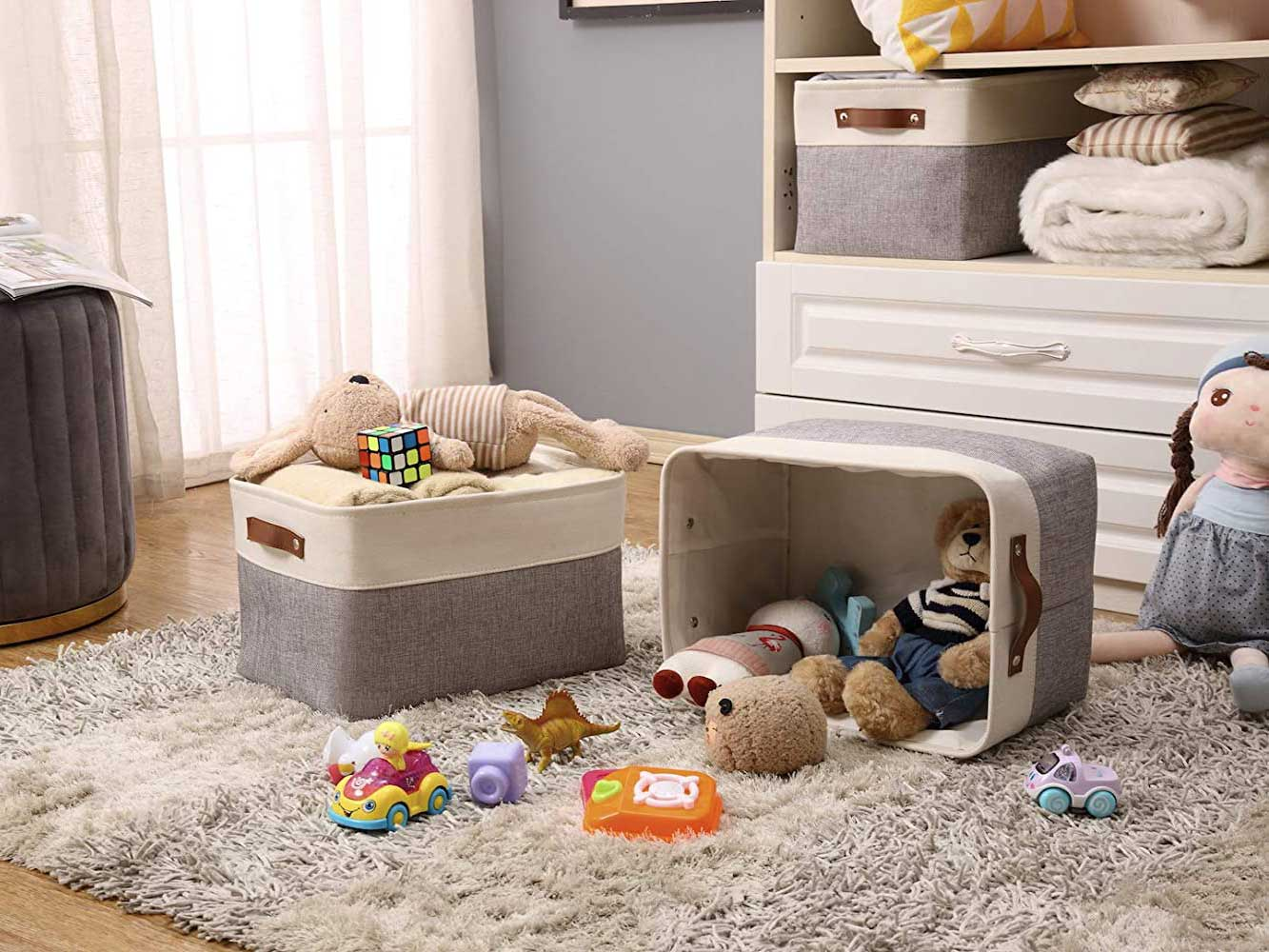 Toys in baskets