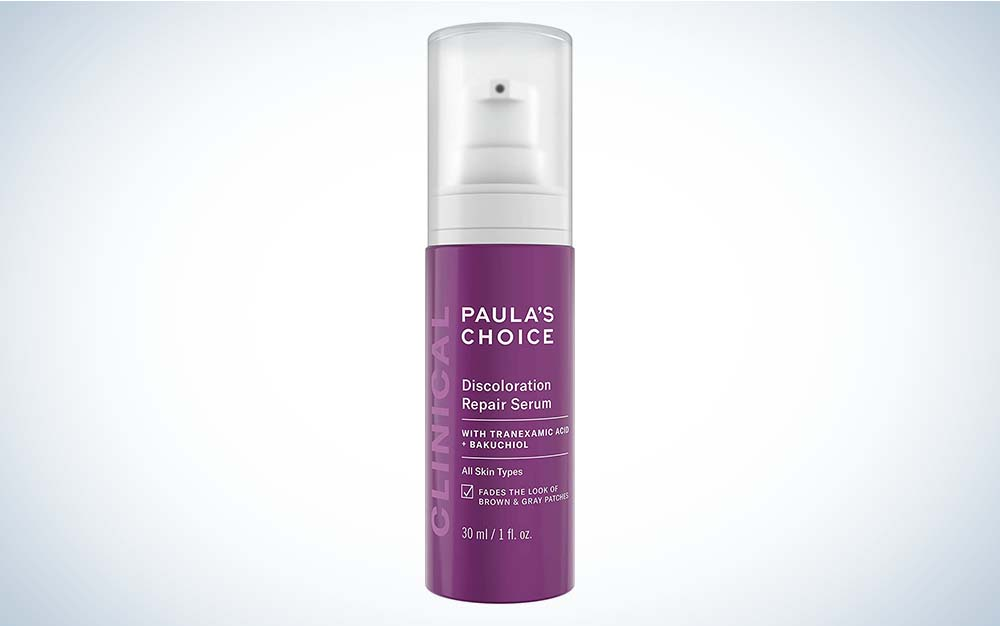 Paula's Choice Clinical Discoloration Repair Serum is best for post-acne marks.