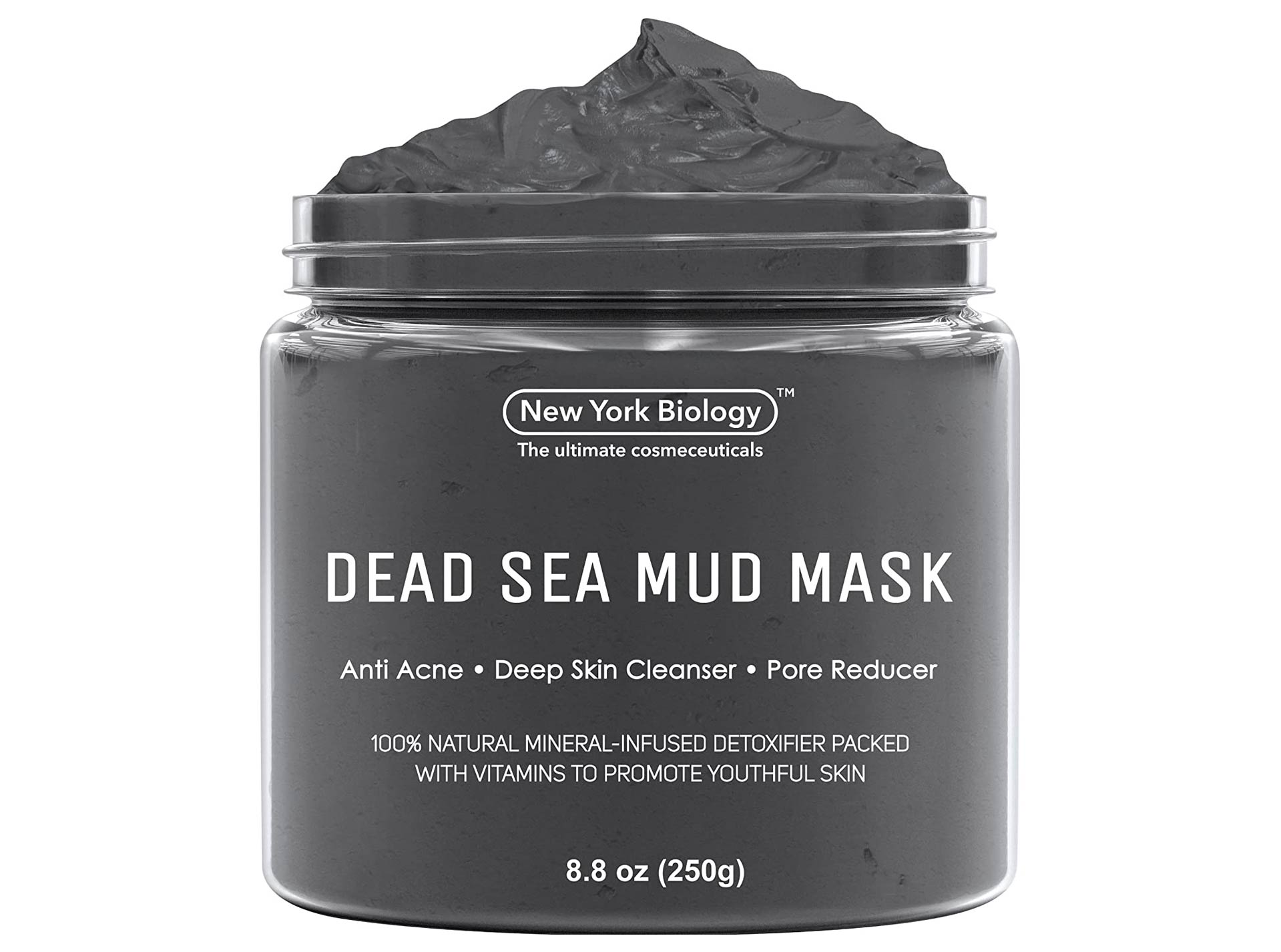 New York Biology Dead Sea Mud Mask for Face and Body - Natural Spa Quality Pore Reducer for Acne, Blackheads and Oily Skin - Tightens Skin for A Healthier Complexion