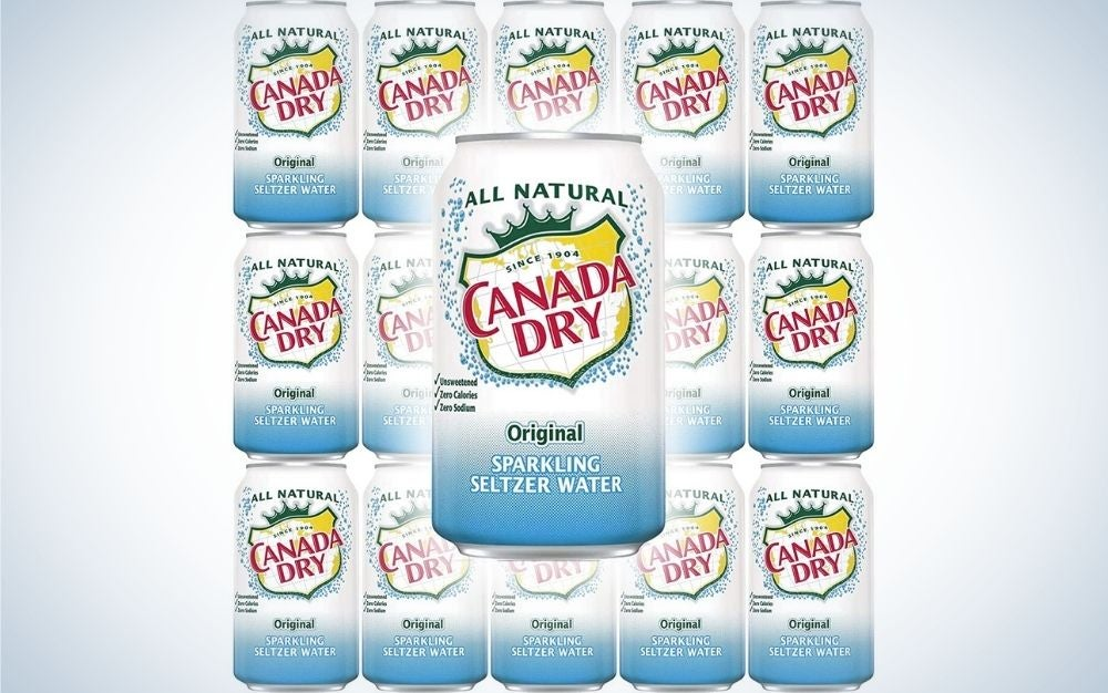 Canada Dry Original Sparkling Seltzer Water is our pick for the best plain seltzer water.