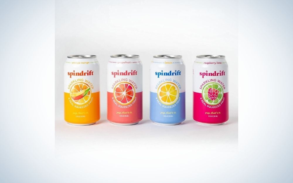 Spindrift Sparkling Water is our pick for the best flavored seltzer water.