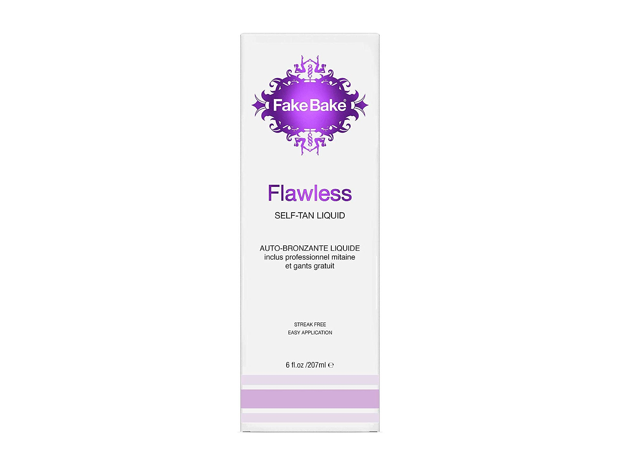Fake Bake Flawless Self-Tanning Liquid | Streak-Free, Long-Lasting Sunless Natural Glow For All Skin Tones | Black Coconut Scent | Includes Professional Tanning Mitt For Easy Application