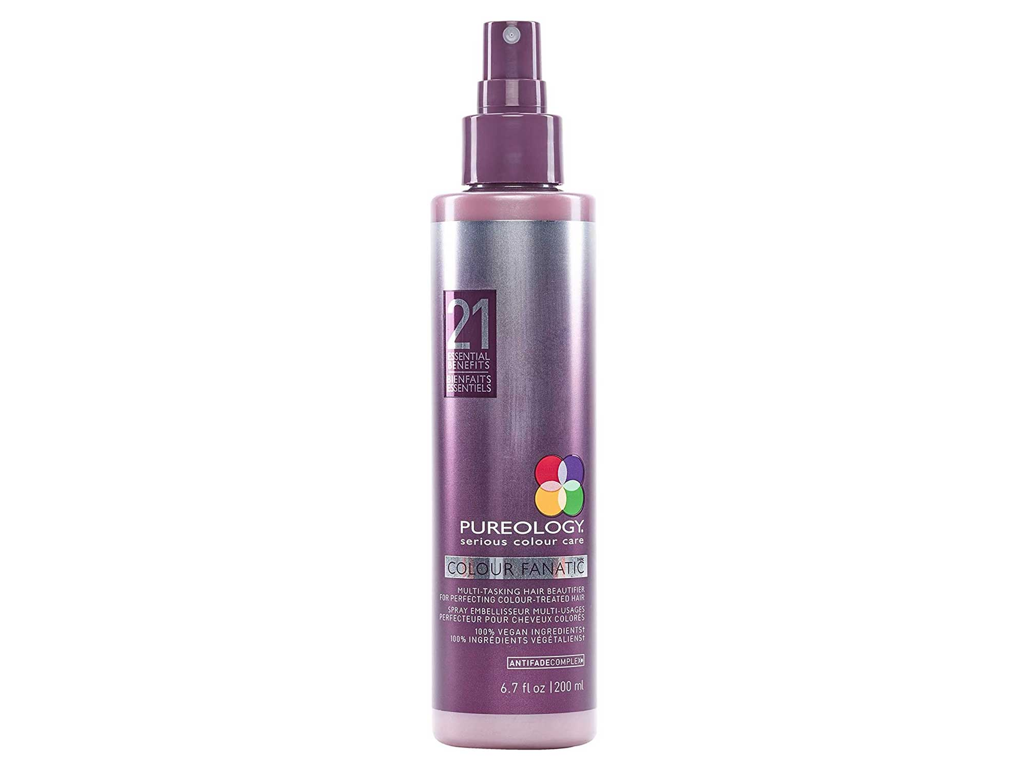 Pureology   Colour Fanatic Leave-in Conditioner Hair Treatment Detangling Spray   Protects Hair Color From Fading   Heat Protectant   Vegan