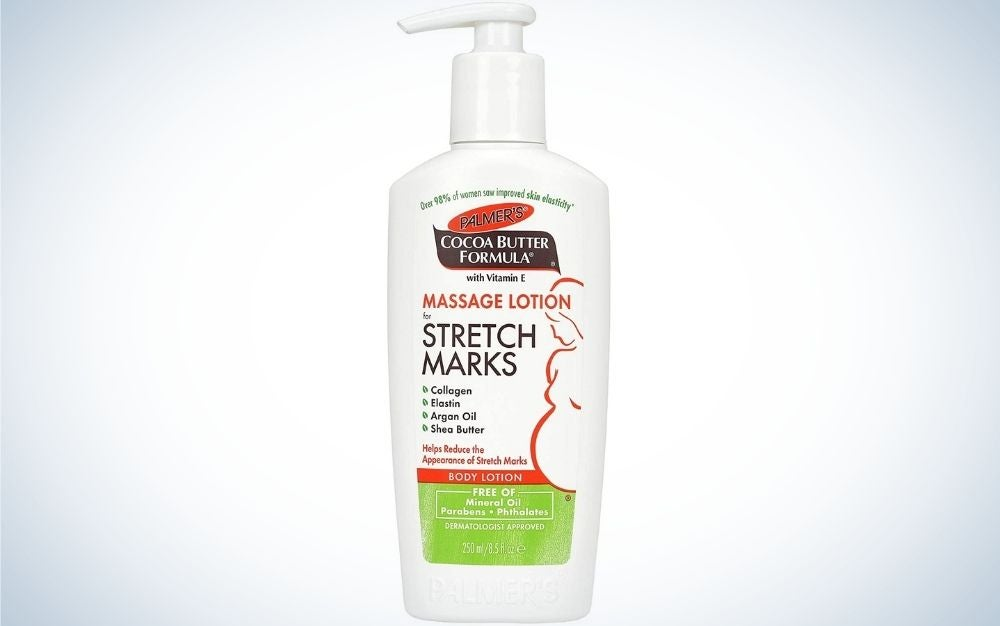 Palmer's Cocoa Butter Formula Massage Lotion of Stretch Marks is the best budget stretch mark ointment.