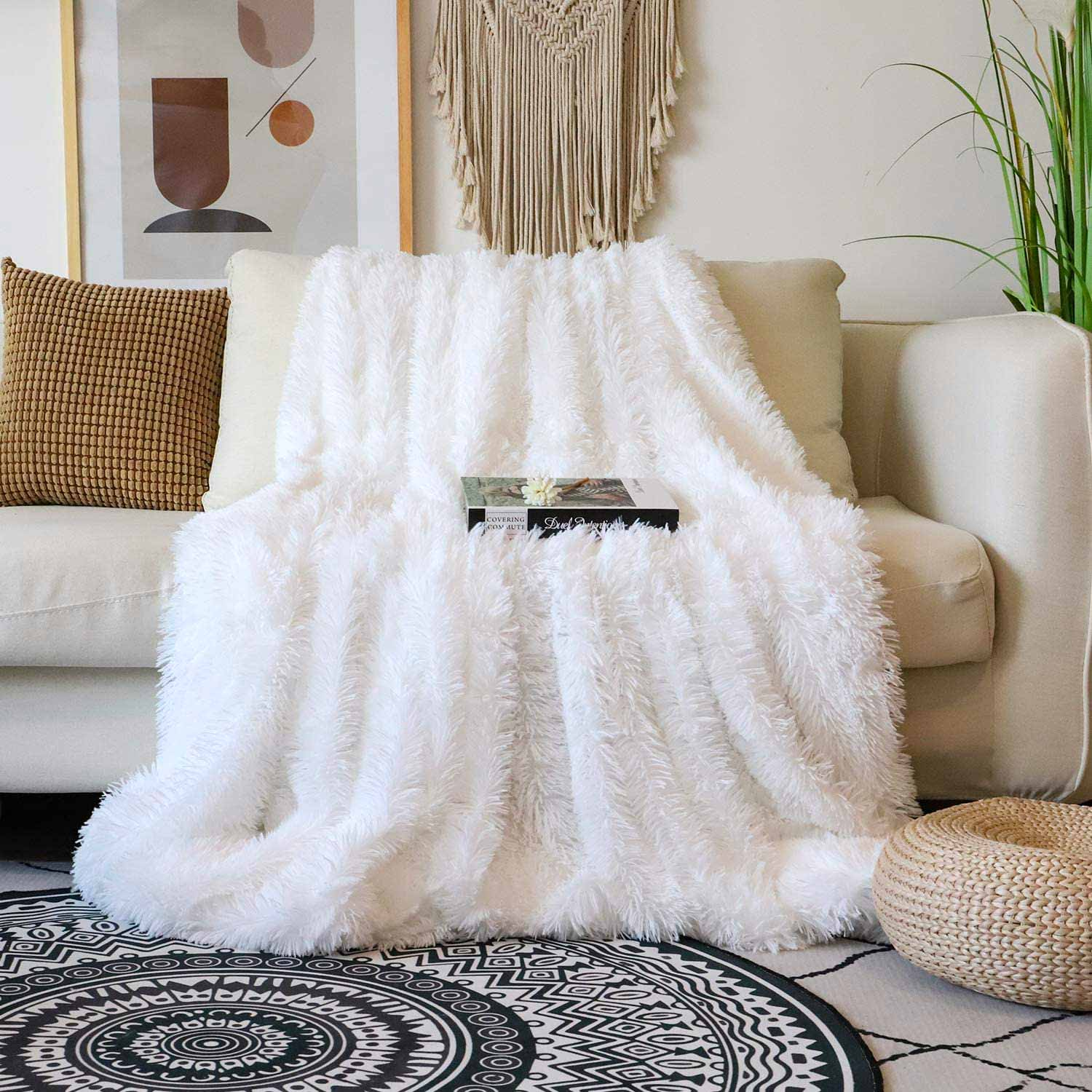 Decorative Extra Soft Faux Fur Blanket Queen Size 78