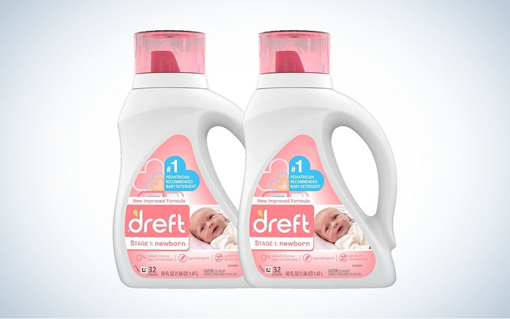Dreft Stage 1 detergent is a top choice for baby's clothes.