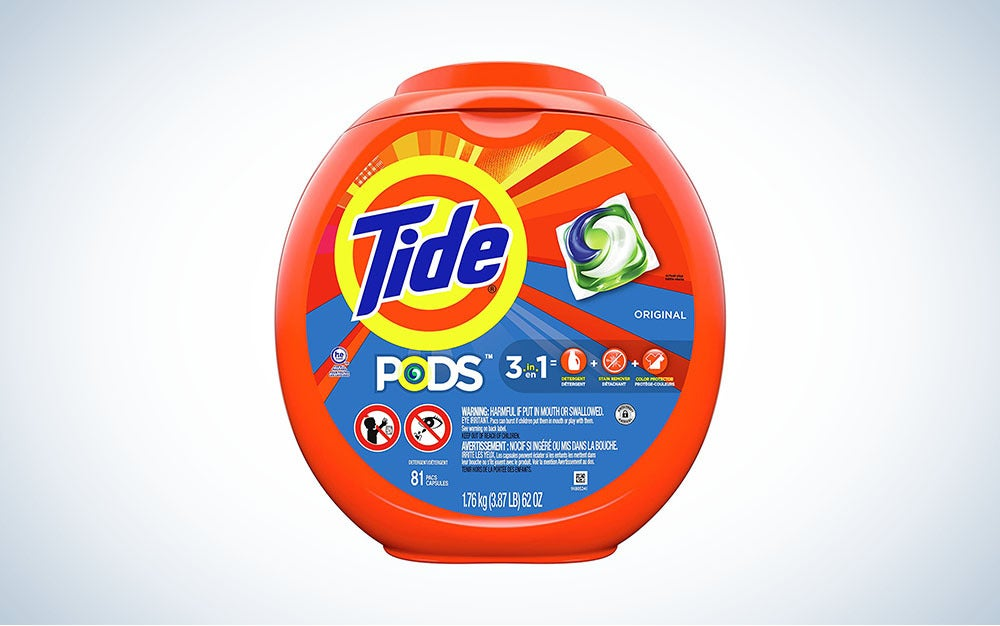 Tide Pods 3-in-1 is the best overall laundry detergent.