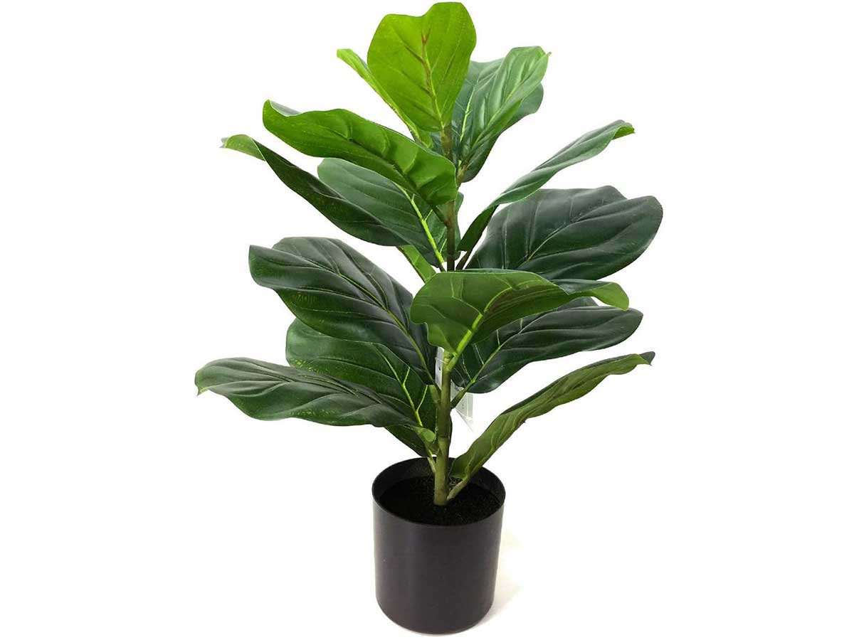 BESAMENATURE 22 Inch Artificial Mini Fiddle Leaf Fig Tree, Faux Tree Used for Indoor Decor