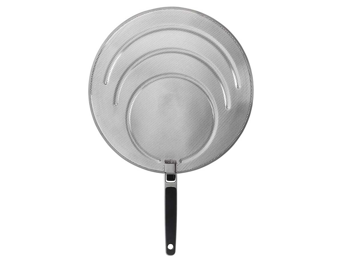 OXO 1064468 Good Grips Stainless Steel Splatter Screen with Folding Handle