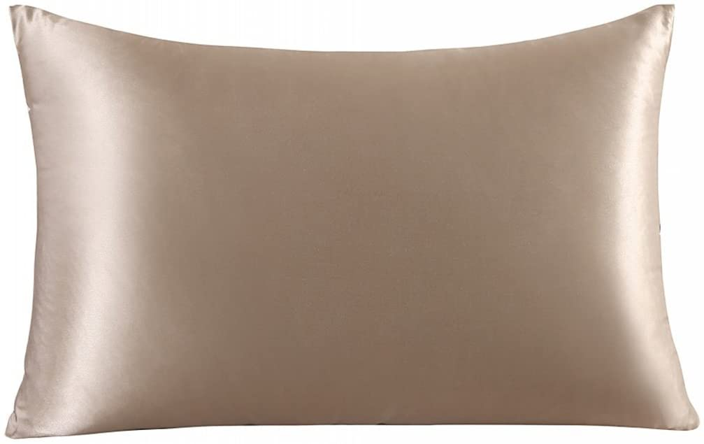 ZIMASILK 100% Mulberry Silk Pillowcase for Hair and Skin,Both Side 19 Momme Silk, 1pc (King 20''x36'', Taupe)