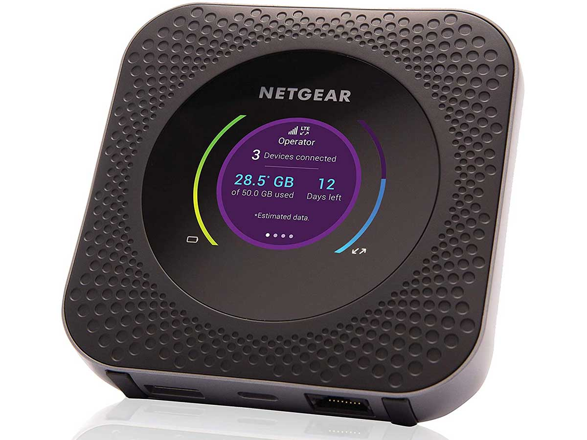 NETGEAR Nighthawk M1 Mobile Hotspot 4G LTE Router MR1100-100NAS - Up to 1Gbps Speed | Connect Up to 20 Devices | Create WLAN Anywhere | Unlocked to Use Any Sim Card-Contact Your Carrier for Data Plan