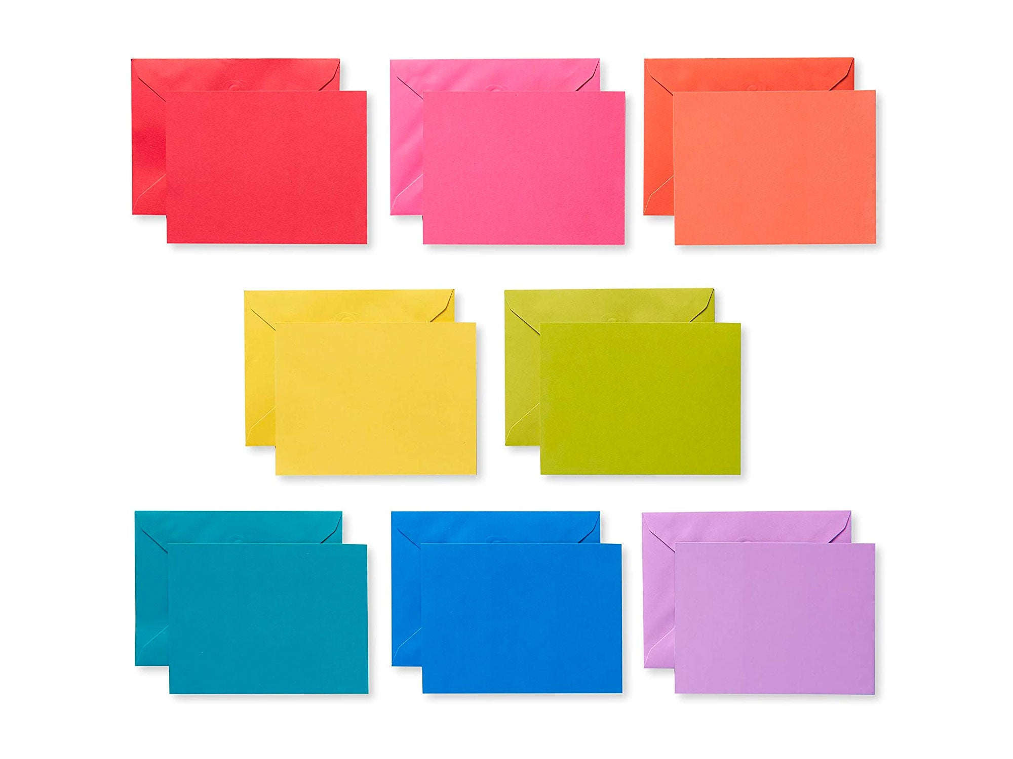 American Greetings Single Panel Blank Cards with Envelopes, Rainbow (200-Count)