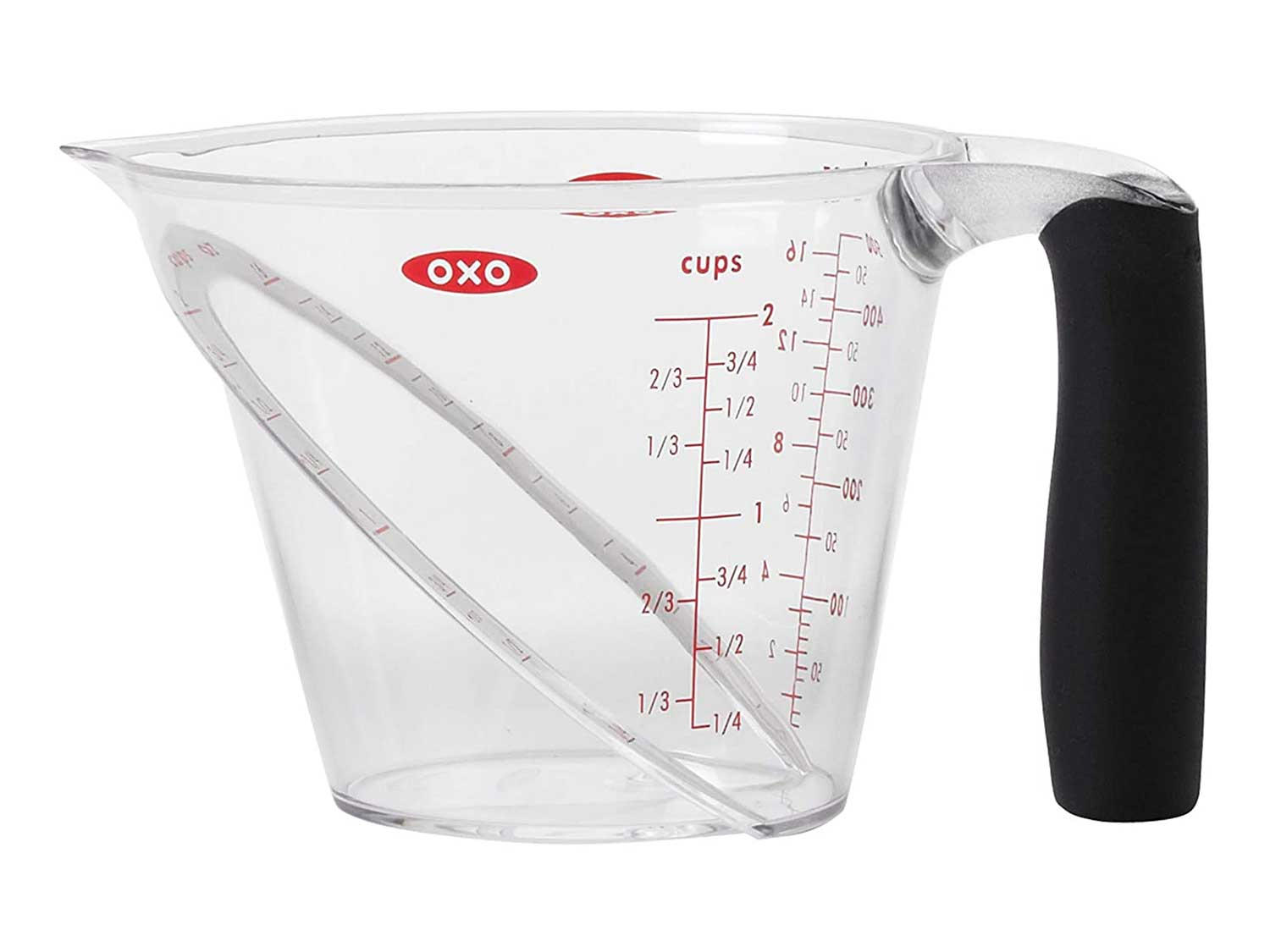 OXO Good Grips 2-Cup Angled Measuring Cup,Clear,2 Cup